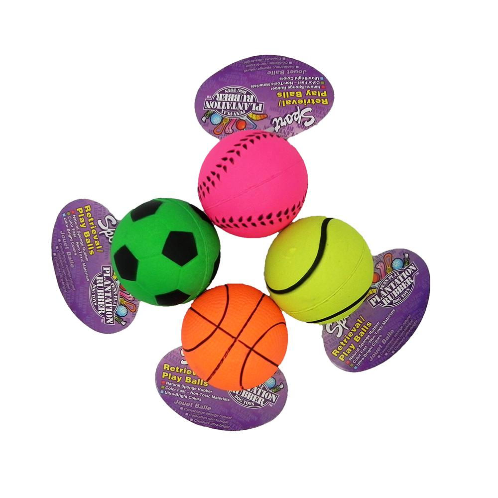 Penn Plax Rubber Sports Ball Dog Toy each