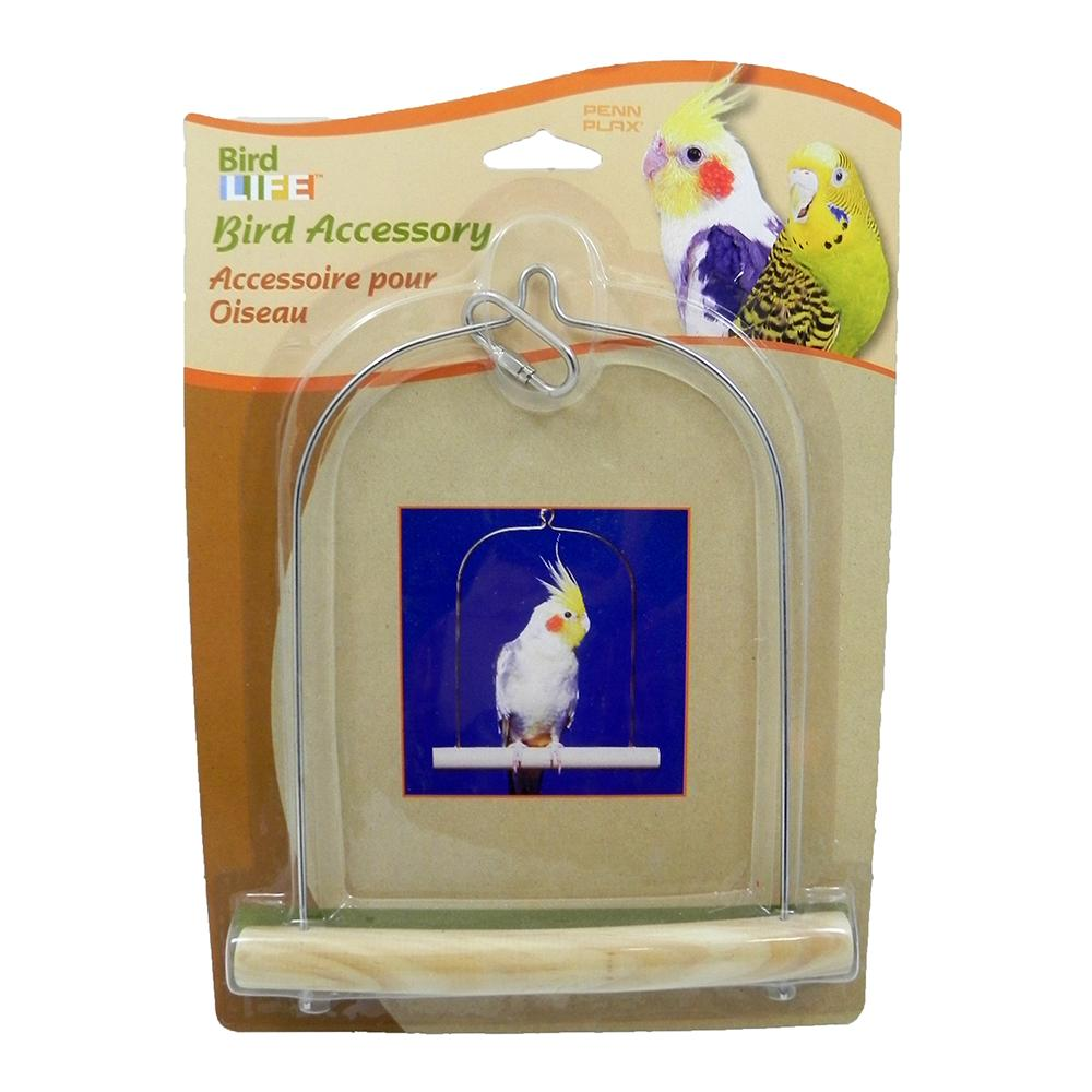 Penn Plax Swing Wood Cockatiel Bird Toy