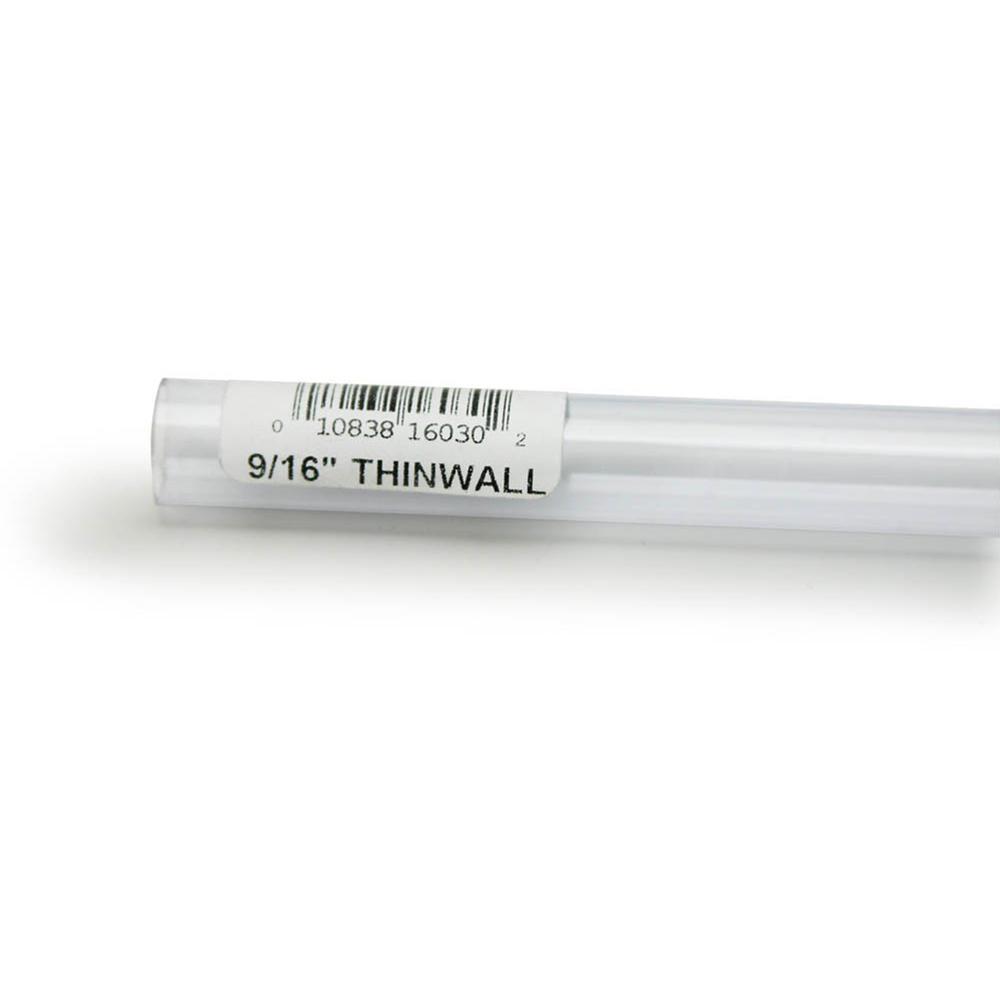 Rigid Plastic Tubing 9/16-inch outer diameter, 3 foot length