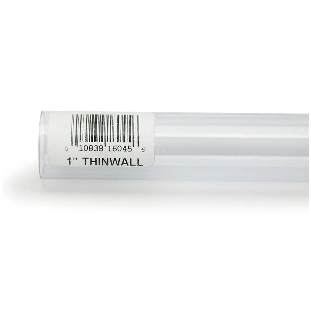 Rigid Plastic Tubing 1-inch outer diameter, 3 foot length