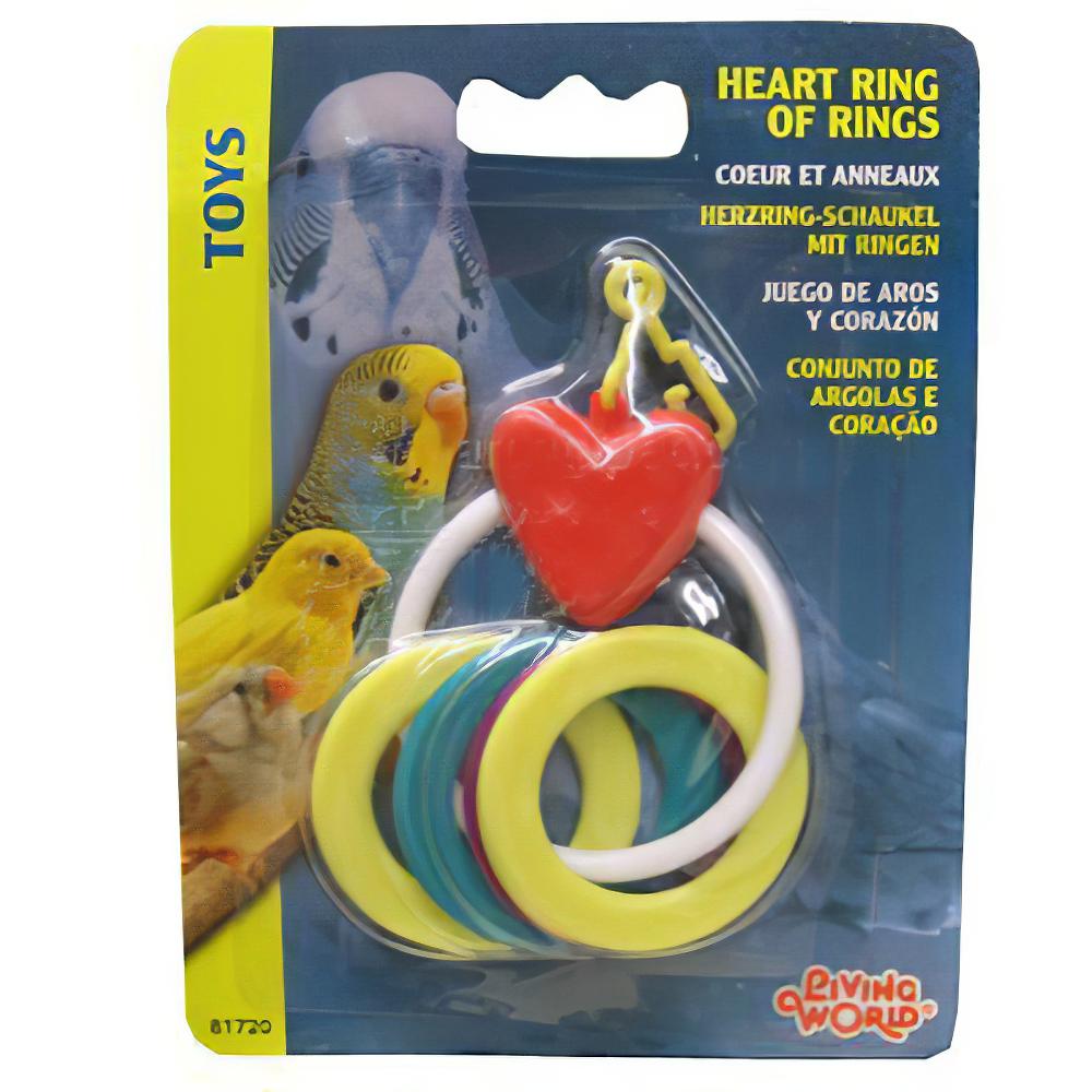 LivingWorld Heart Ring of Rings Bird Toy