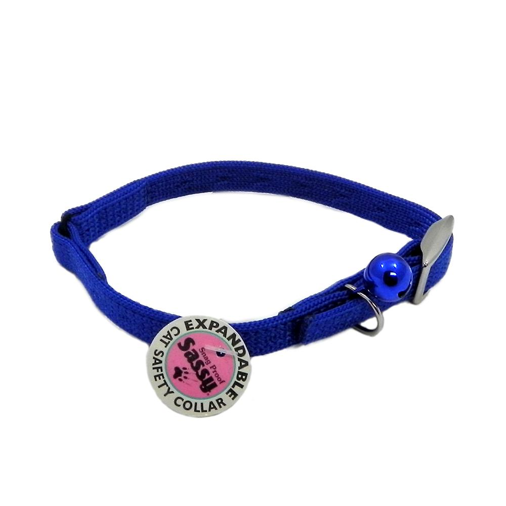 Sassy Cat Safety Collar 12-inch Blue