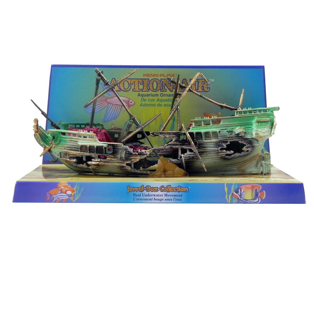 Penn Plax Action Split Shipwreck Aquarium Ornament