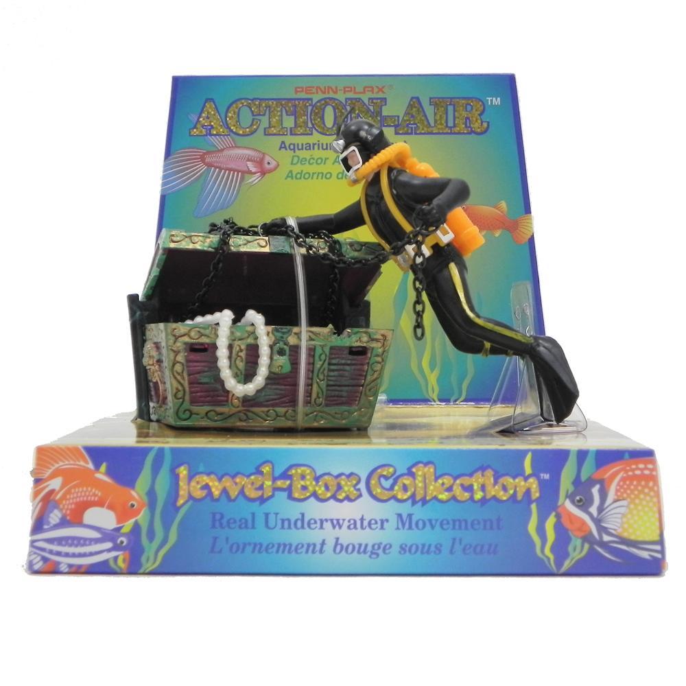 Penn Plax Action Treasure Diver Aquarium Ornament