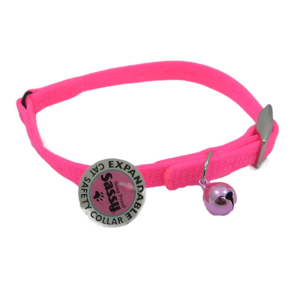 Sassy Cat Safety Collar 12-inch Pink