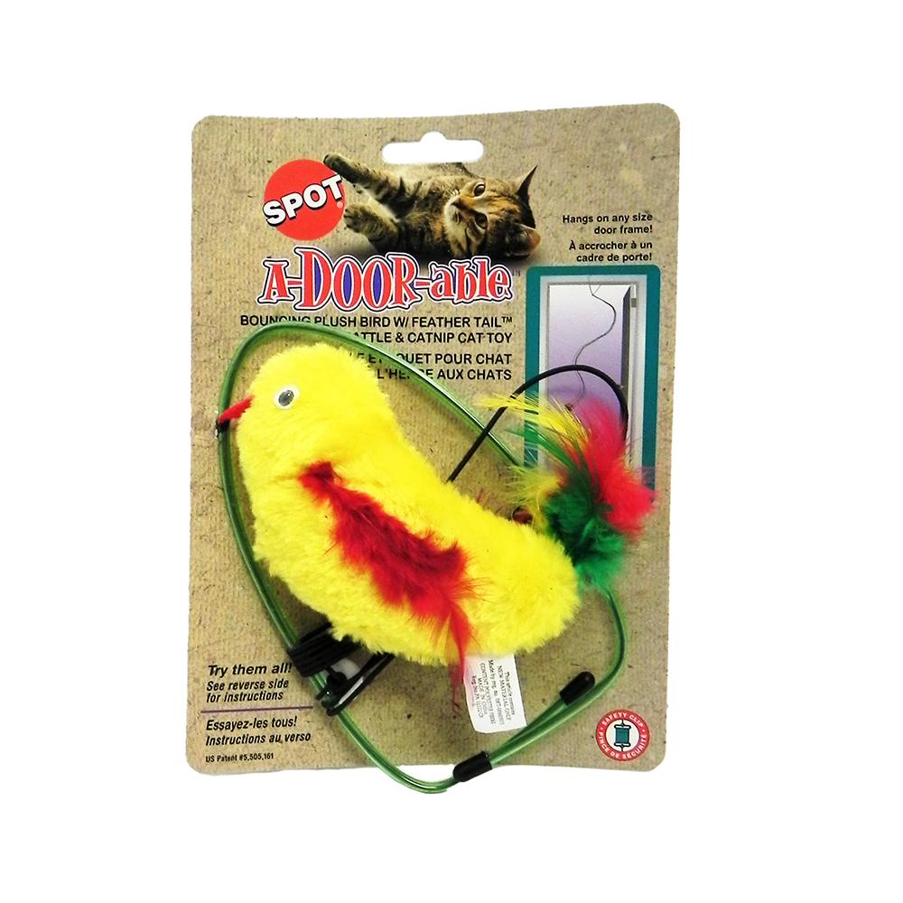 A-door-able Cat Toy Bird Plush/Feather