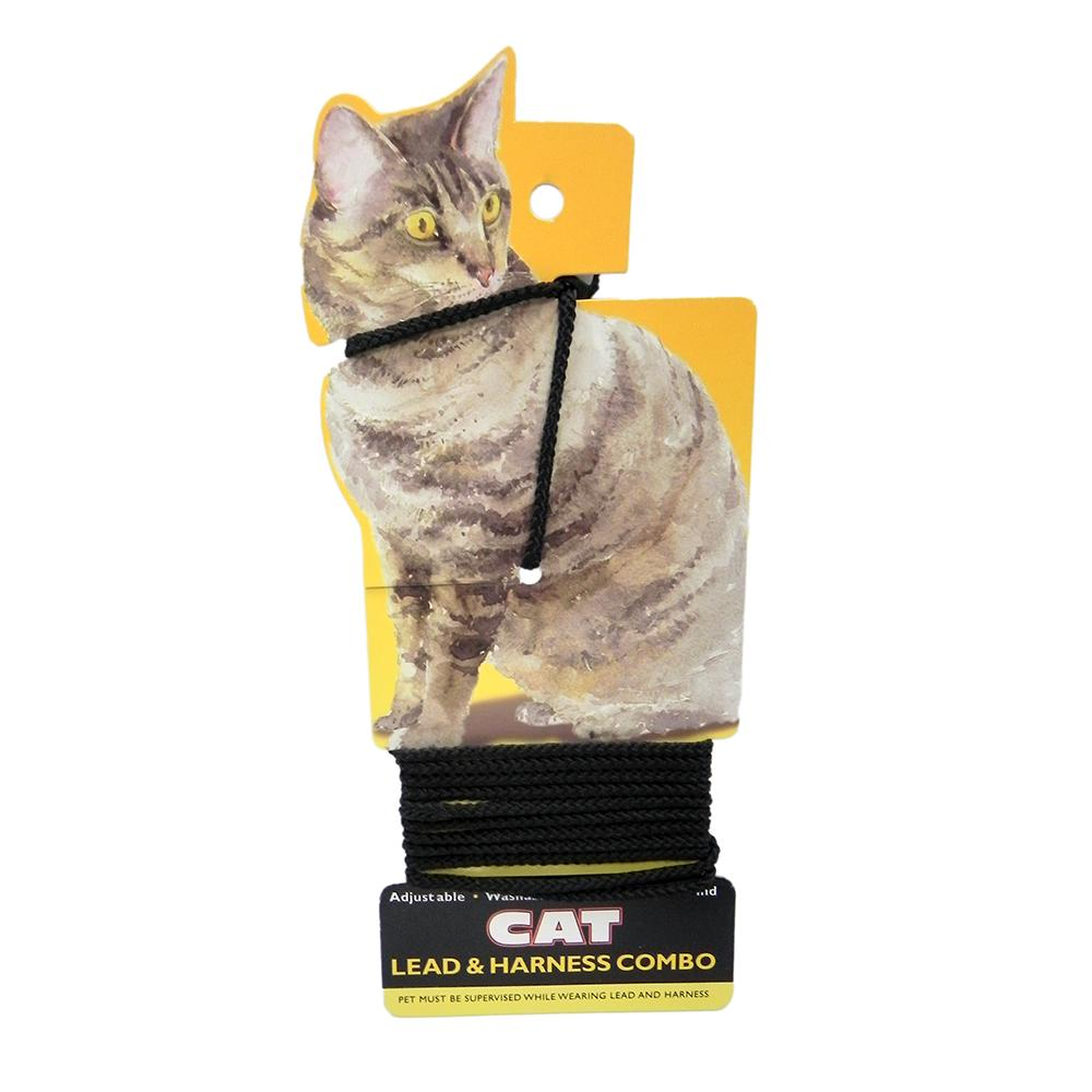 Cat Lead and Harness Black