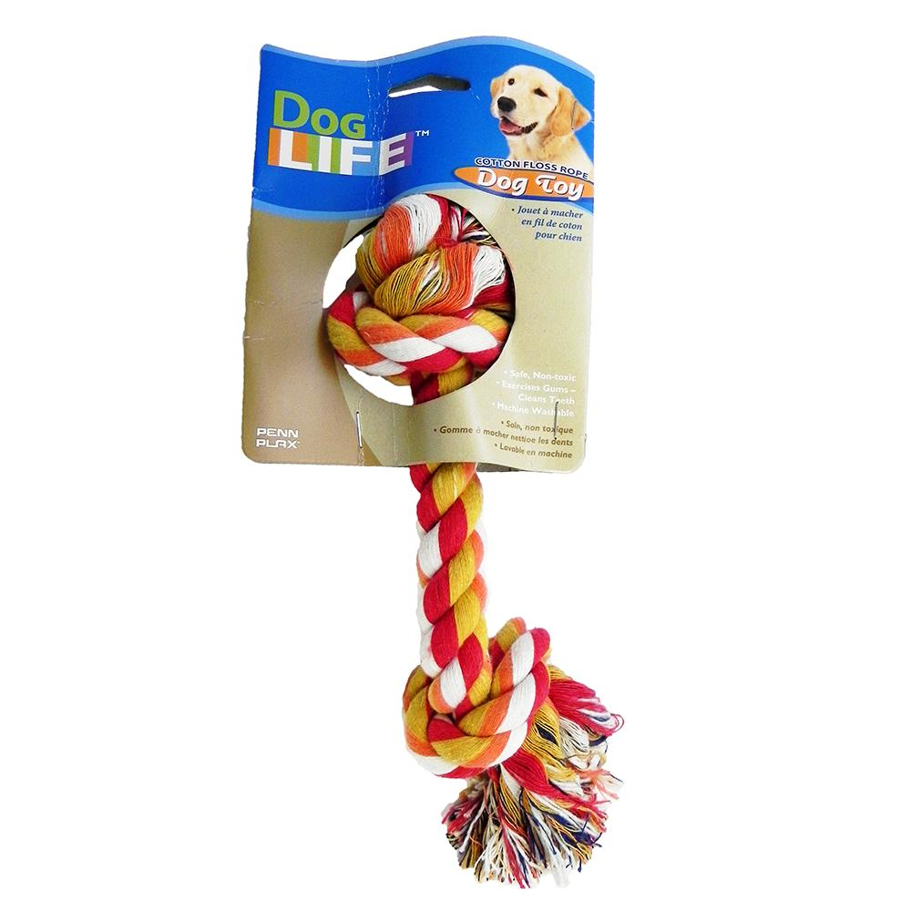 Rope Bone Large Color Dog Toy