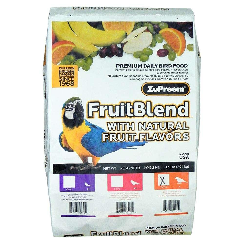 ZuPreem Fruit Blend Large Parrot Food 17.5 pound
