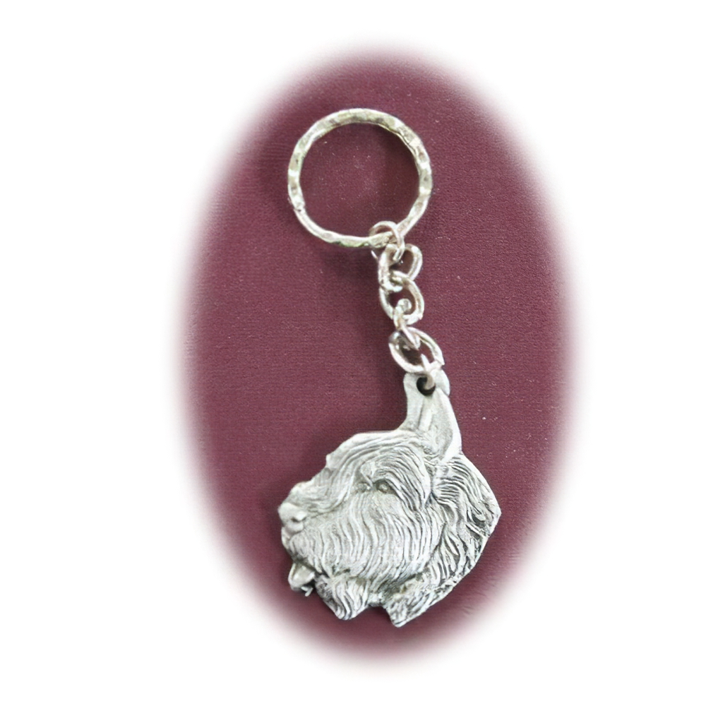 Pewter Key Chain I Love My Bouvier