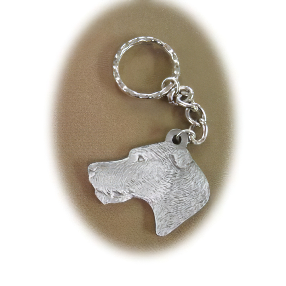Pewter Key Chain I Love My Irish Wolfhound