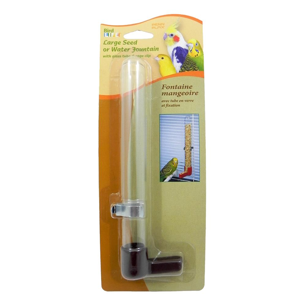 Glass Tube Bird Cage Waterer 8 inch