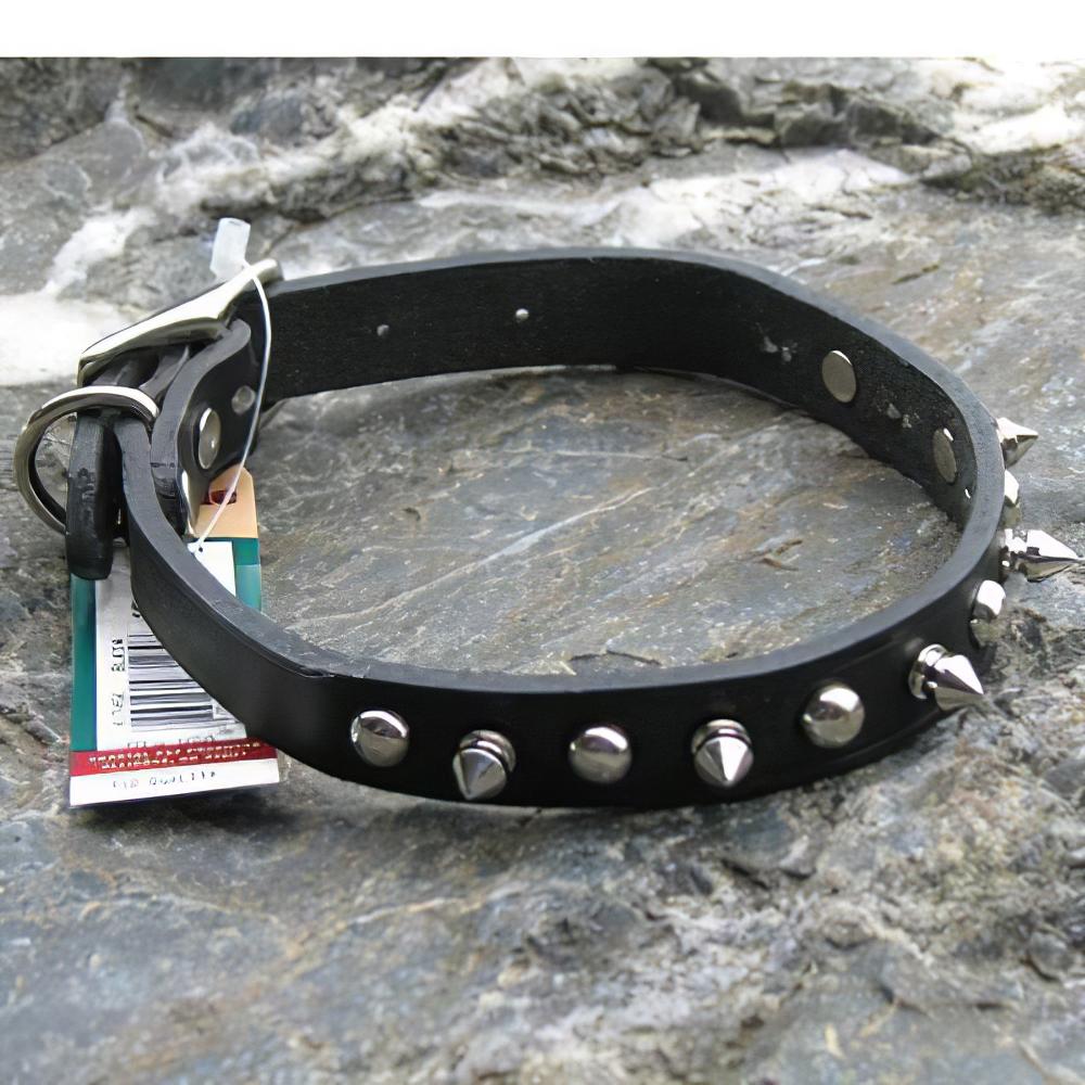 Spiked Dog Collar Black 14 x 5/8 inch