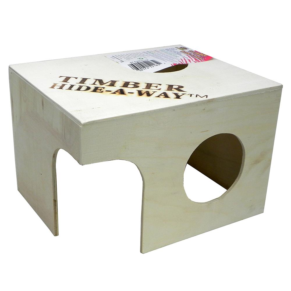 Penn Plax Small Animal Timber Hide-a-Way Large
