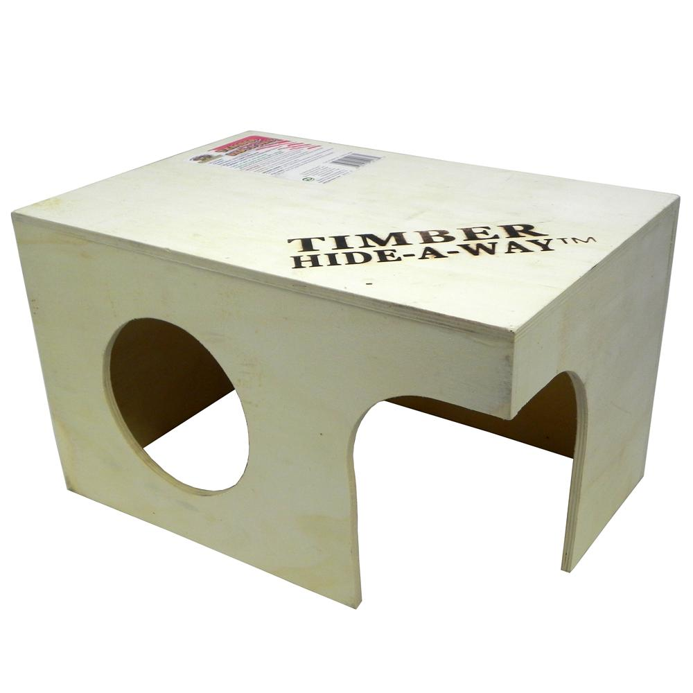 Penn Plax Small Animal Timber Hide-a-Way Ex Large