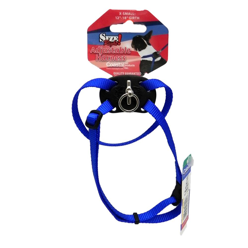 Nylon Dog Harness Size Right XSmall Blue