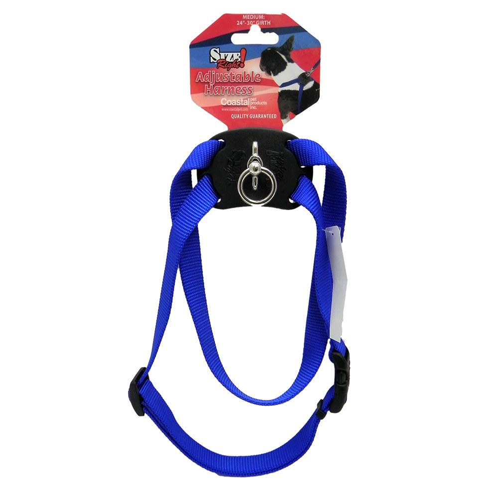 Nylon Dog Harness Size Right Medium Blue