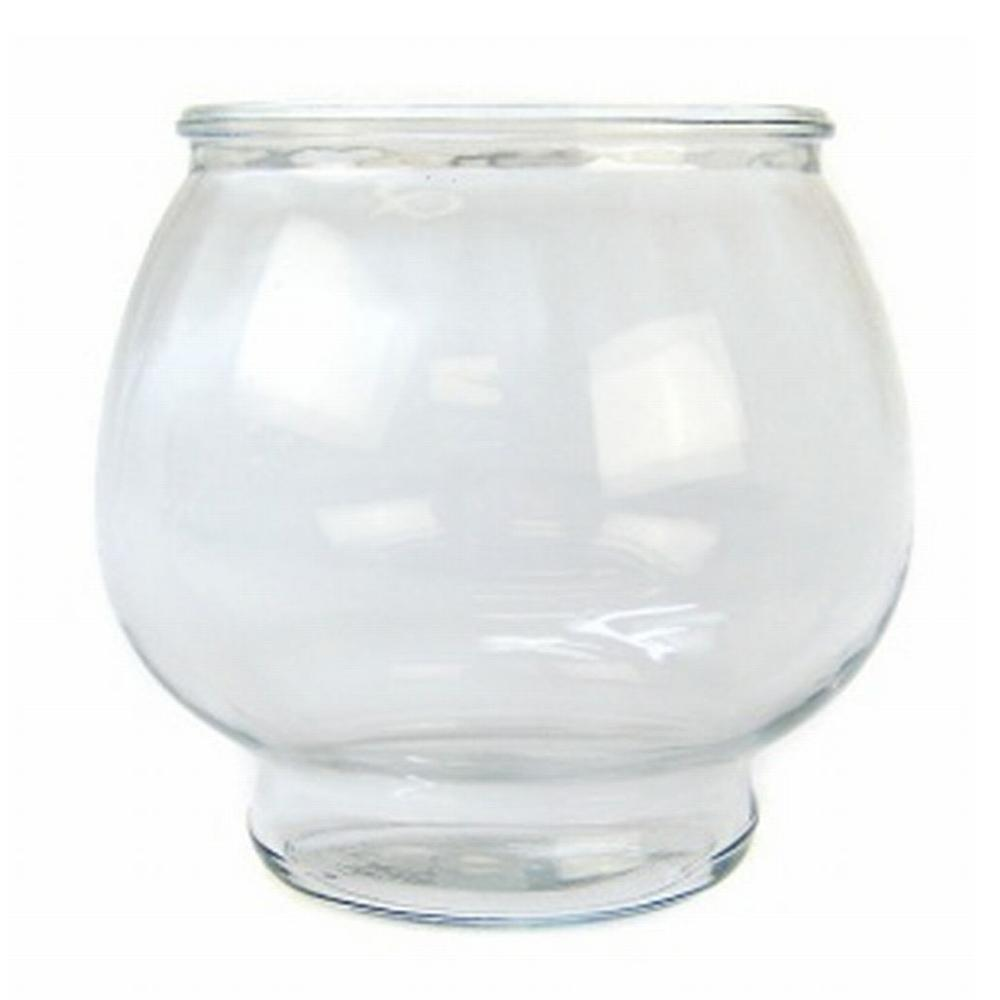 Anchor Hocking Glass Fish Bowl Footed 1/2 Gal