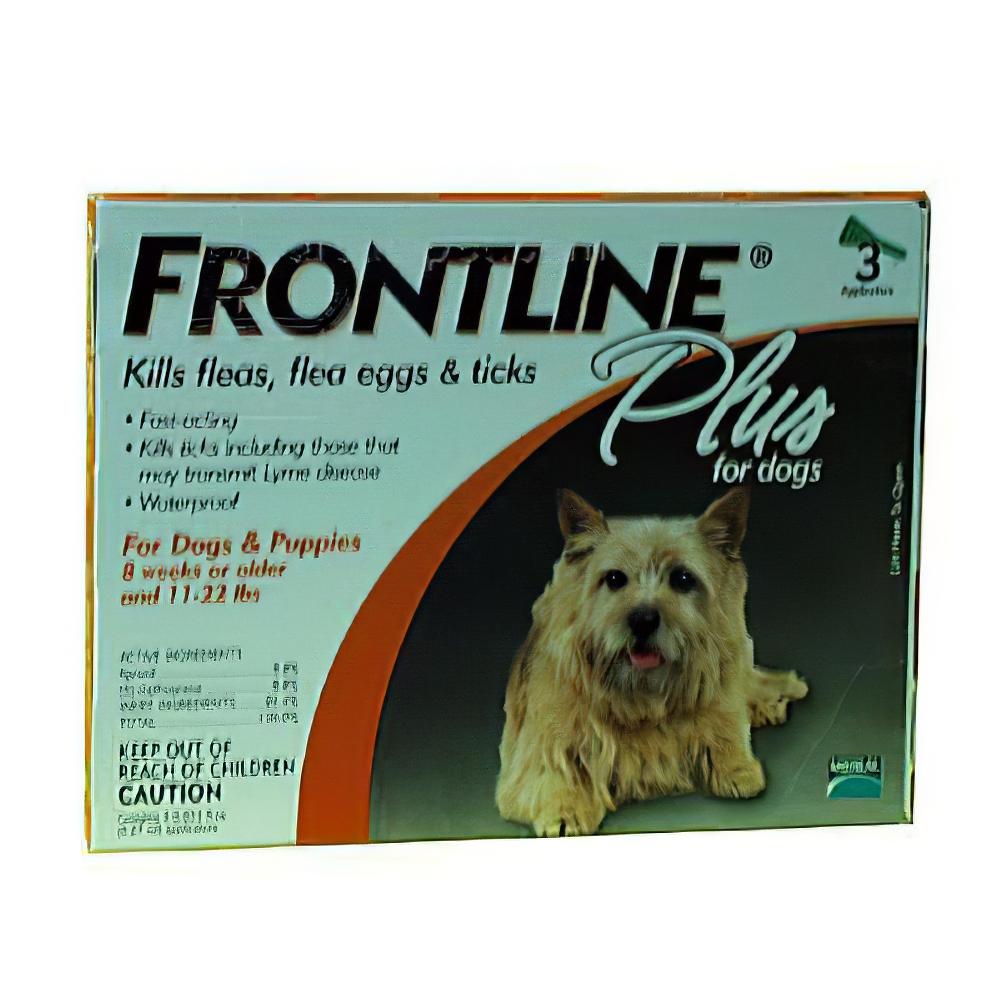 Frontline PLUS Dog 5-22 lb 3 pack Flea and Tick Treatment