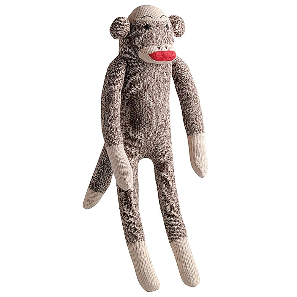 Sock Pals Monkey Dog Toy