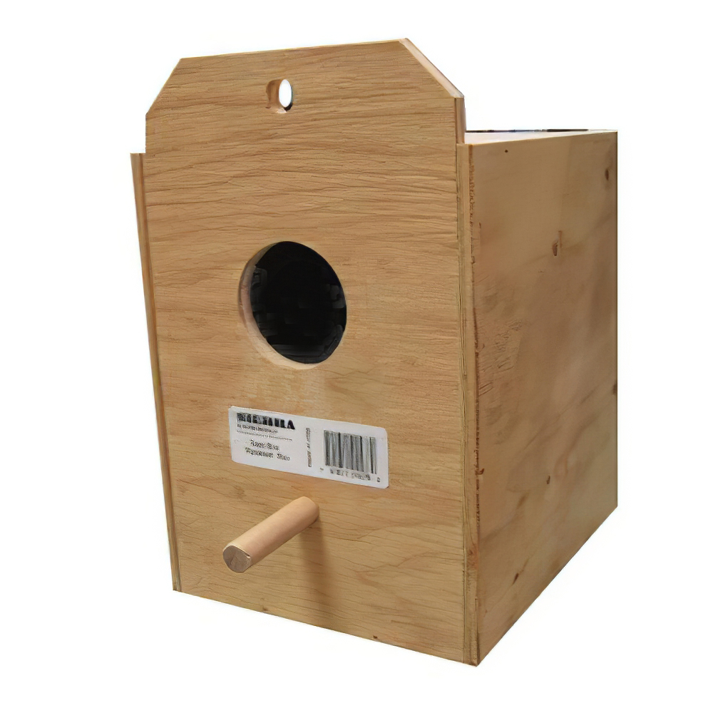 Parakeet Nest Box Outside of Cage/Reverse