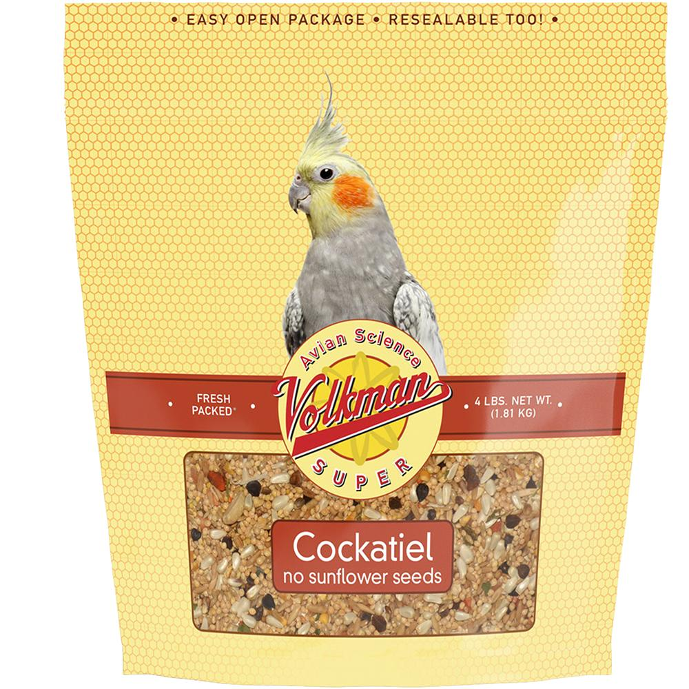 Avian Science Super Cockatiel NO Sun 4 pound Bird Seed