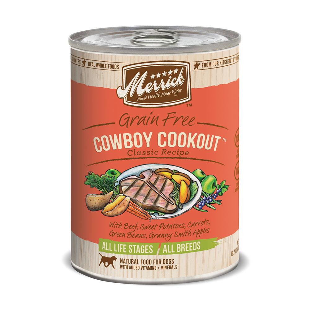 Merrick Cowboy Cookout Dog Food Can