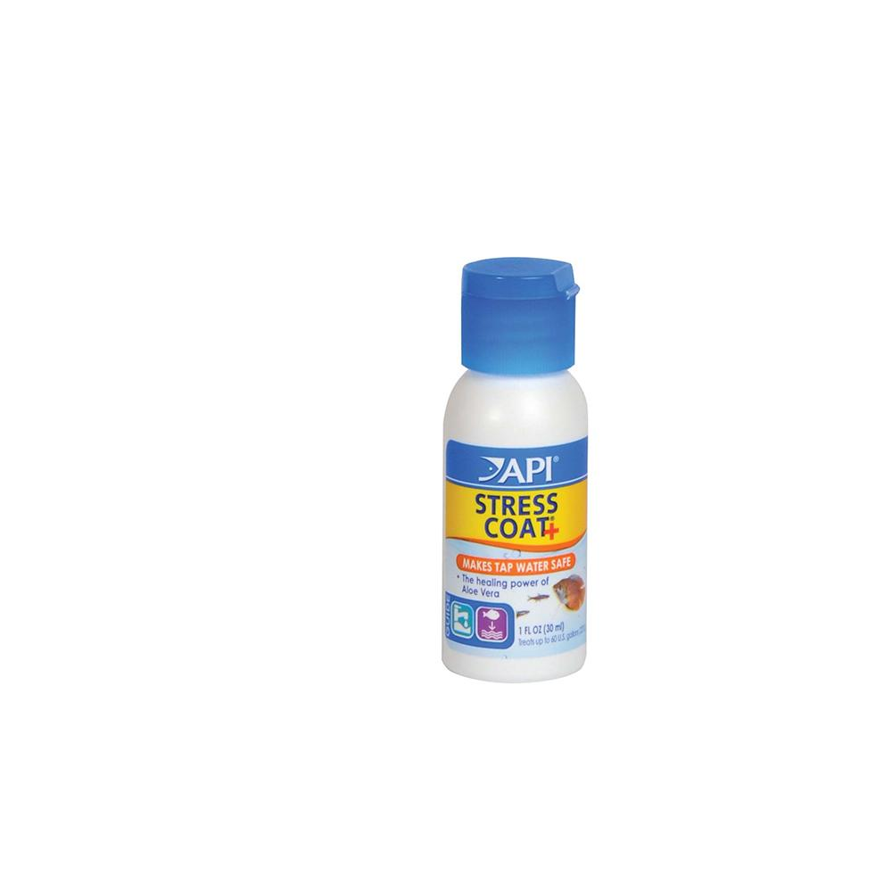 Stress coat 1 ounce aquarium water conditioner aquar for How to make tap water safe for fish without conditioner