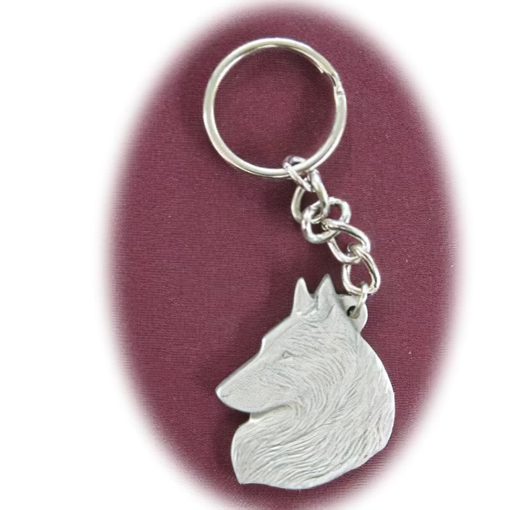 Pewter Key Chain I Love My Belgian Tervuren