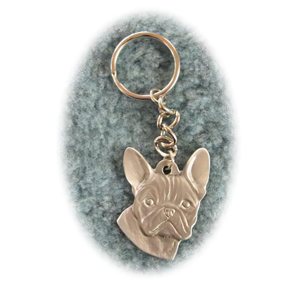 Pewter Key Chain I Love My French Bulldog