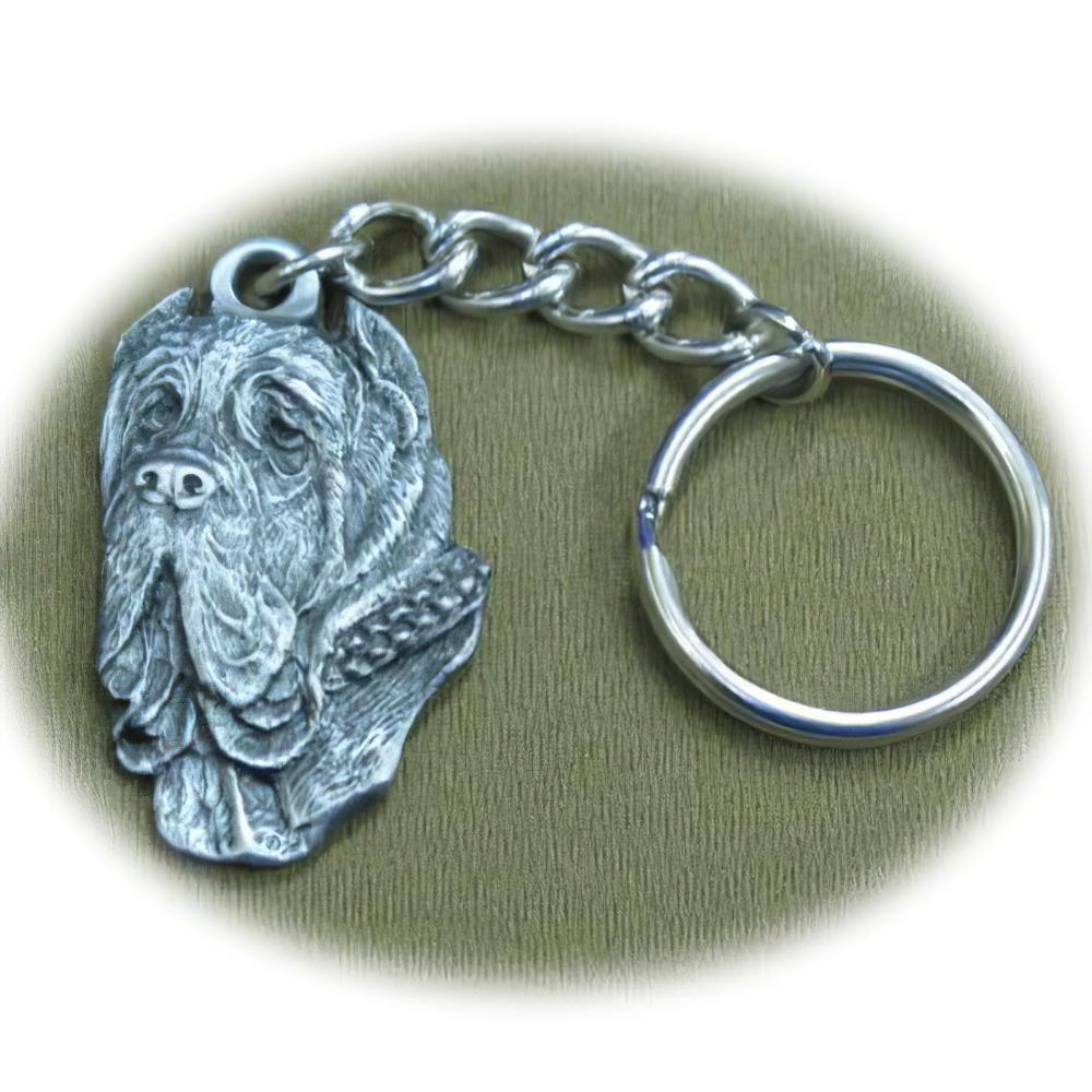 Pewter Key Chain I Love My Mastino Napoletano