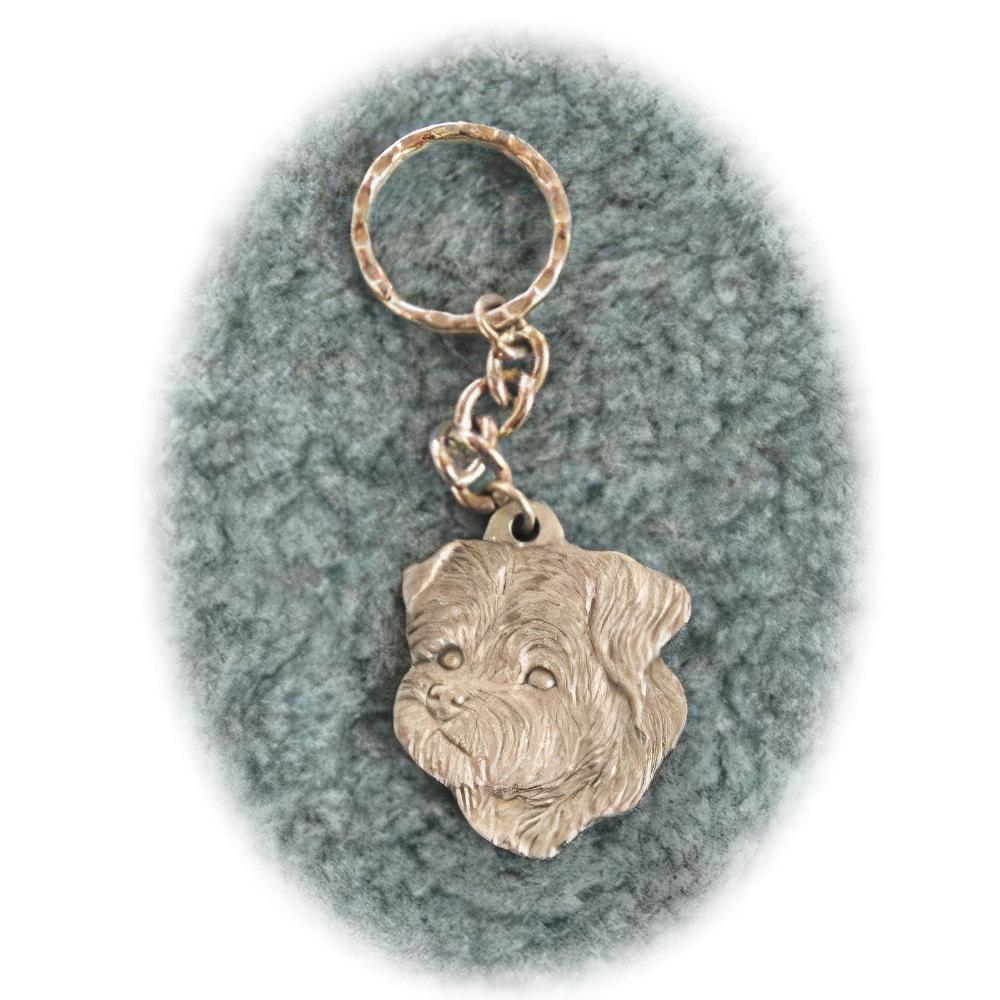 Pewter Key Chain I Love My Peke A Poo