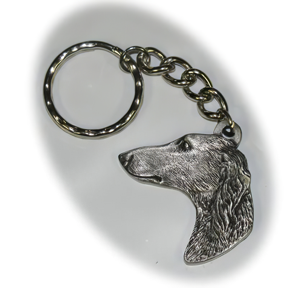 Pewter Key Chain I Love My Saluki