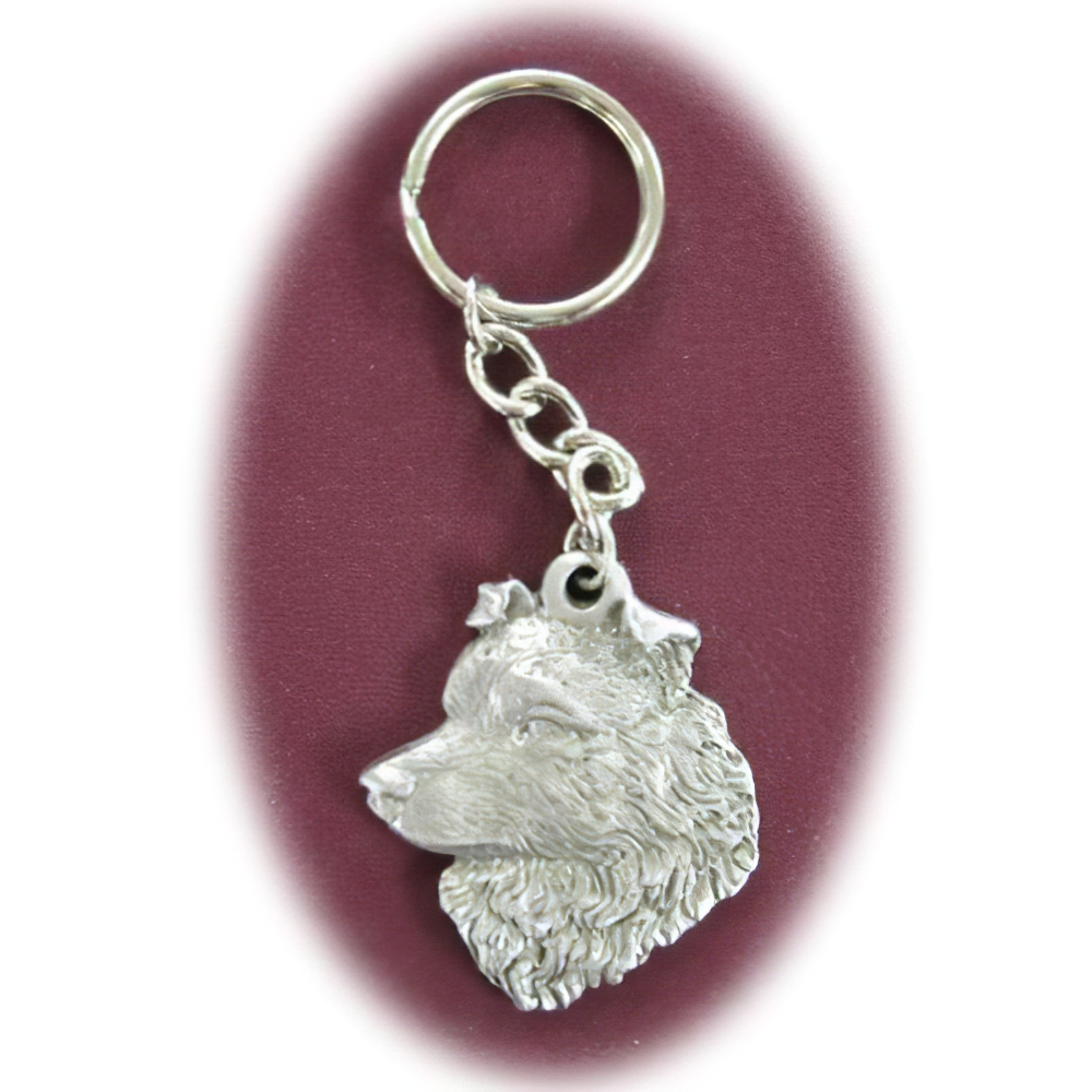 Pewter Key Chain I Love My Australian Shepherd
